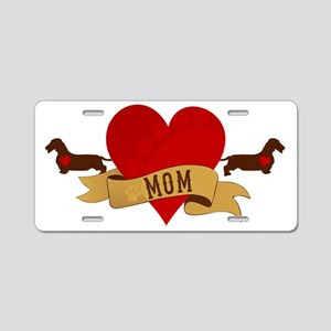 Dachshund [Doxie] Mom Aluminum License Plate